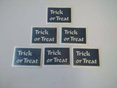 Trick or Treat word stencils for windows 6