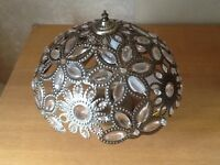 Large Antique Brass Bohemian Ceiling Light