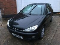 Puegeot 206 Zest 1.1ltr 2005 model only 53k and brand new mot and freshly serviced