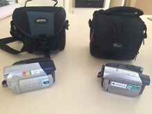 2 x Mini DV Video cameras with bags Palmyra Melville Area Preview