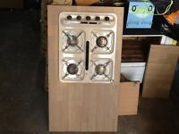 Gas cooker and grill with work top for campervan or cooker.