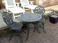 Plastic table and two chairs buyer collects