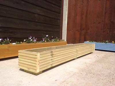 4ft Wooden Decking Planter/Window Box/Trough/Garden/Herb/Flower 120cm