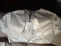Beautiful Ivory wedding bolero, new with tag, size 10, by BHS