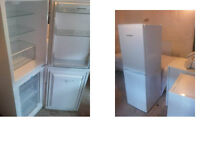 MONTPELLIER FRIDGE FREEZER 58.5 INCHES HIGH X 19 WIDE GOOD WORKING ORDER CAN BE SEE WORKING
