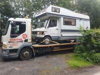 DAF Trucks, LF45 recovery truck beavertail