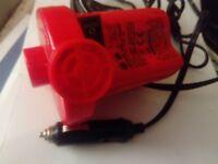 Electric Air compressor pump. Red