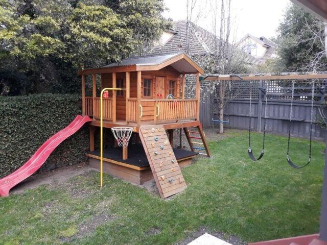Cubby House & Outdoor Play Equipment (Slide, Swings ...