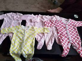 30 piece+ Next newborn baby grows and vests
