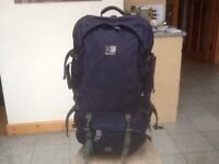 Superb Karrimor Global SA Supercool 70 to 90 litre expander heavy duty constructed rucksack in navy