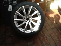 18 inch Vela wheel for Jaguar XF with tyre Dunlop, j rated . Brand new wheel and tyre