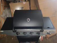 Premium 4 Burner Gas BBQ with Side Burner