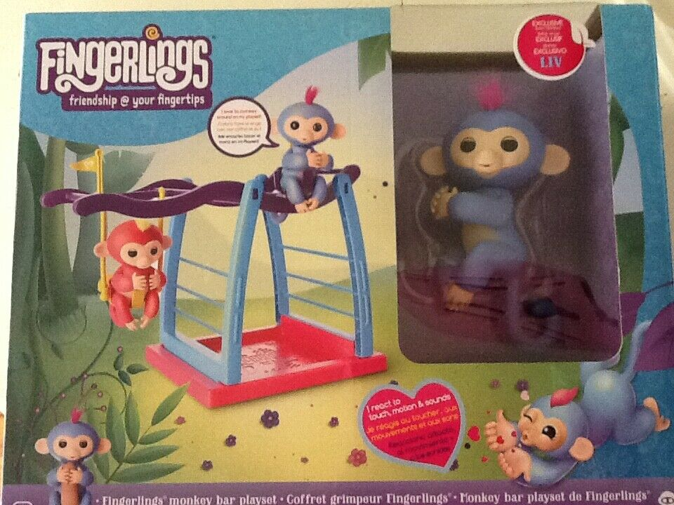 NEW Fingerlings Monkey with Monkey Bars & Hammock Interactiv