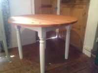 PIne Dining Table -Painted in Farrow & Ball with OSMO OIl Top