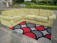 Nice Corduroy Corner sofa