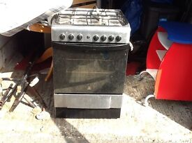 Gas hob and electric oven works fine just needs a clean where it has sat in garage