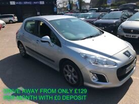 SEPT 2013 PEUGEOT 308 1.6 HDI 90BHP ACCESS AIR CON B/TOOTH £20 ROAD TAX FINANCE/WARRANTY AVAILABLE