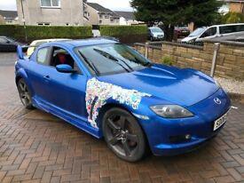 Mazda RX8 blue 231 PS 06 plate track/drift car low mileage 67k