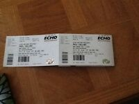 2phil collins tickets liverpool echo arena 2 June