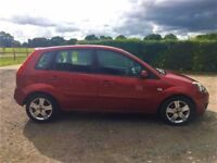 2007 Red Ford Fiesta Zetec*12mo MOT*5dr*1.25*low miles*great tyres*AUX*high MPG*full service history