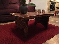Solid wood caffe table,handmade