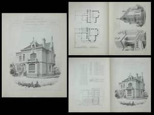 AMIENS, HOTEL BOULEVARD DU CANGE - PLANCHES ARCHITECTURE 1900 - DELASSUS