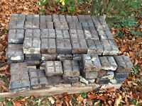 87 good reclaimed vintage possibly Victorian heritage cobble setts plus 15 damaged ones