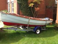 Drascombe Dabber - versatile safe family cruising boat,trailer,engine,oars,covers, sails etc