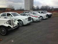 Cheap wedding cars hire Warrington , Rolls Royce phantom hire , vintage cars hire , limos hire