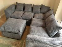 BRAND NEW LIVERPOOL JUMBO CORD CORNER OR 3+2 SEATER SOFA SET AVAILABEL IN STOCK ORDER NOW