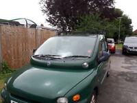 Fiat Multipla 1.9TDI Spares or Repair Brilliant workhorse Runner but no MOT