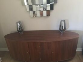 Dwell Walnut oval shaped sideboard