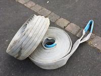 HIAB / CRANE 2x Webbing Sling Strops / Straps 14m long 4000kg each can courier