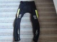 """PAIR BLACK FITTED CYCLING TROUSERS SIZE SMALL TO FIT WAIST 28-30"""" ( 71-76cm ) VERY GOOD CONDITION"""