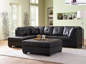 LEATHER SECTIONAL SOFA FOR 7994 ONLY HURRY UP