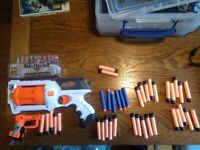 Toy foam Nerf blasters and darts