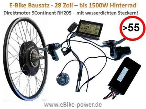 Pedelec E-Bike Umbausatz bis 1500W 28 Zoll Speedmotor 9Continent 45 - 55km/h