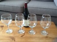 VERY LARGE WINE GLASSES, UNUSED