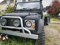 Landrover 90 Defender Year 1988, needs new Chassis, Izusu 2.8 engine