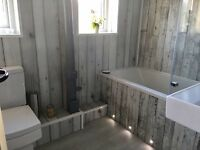 Decorative cladding and bathrooms