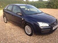 FORD FOCUS 1.6 TDCI STUDIO 5 DOOR MANUAL DIESEL HATCHBACK IN BLUE 2005 WITH 87K AND 12 MONTHS MOT