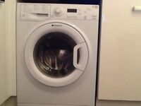 White Hotpoint washing machine 7kg drum.immaculate condition from smoke free pet free home