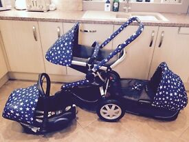 Quinny Buzz 3 Full Set with Stars custom covers