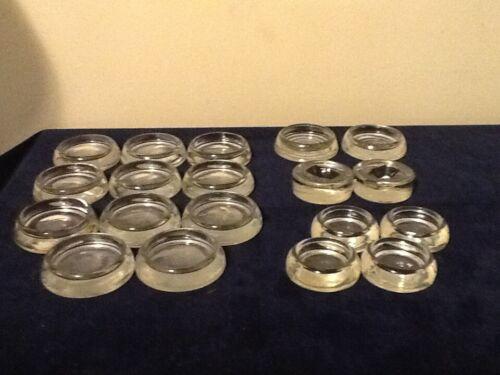19 Antique HAZEL ATLAS + others Glass MCM Furniture Coasters Floor Savers