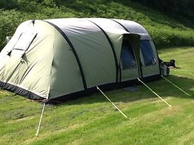 Outwell Concorde L Smart Air tent including footprint and fitted carpet, excellent condition