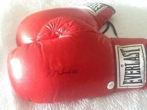 MUHAMMAD ALI SIGNED GLOVE AND POSTER ETC Paddington Brisbane North West Preview