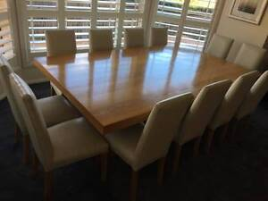 Dining Setting American Oak - Matching Buffet 18 Leather Chairs Castle Hill The Hills District Preview