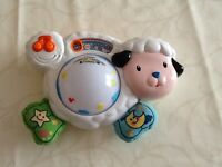 VTech lullaby light-up lamb cot mobile, as new