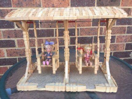 Doll swing set