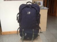Superb Karrimor Global S A Supercool 70 to 90 litre expander travel rucksack used ,great condition